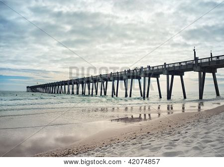 Fishing Pier At Sunset