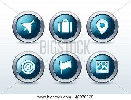 Location and destination icon set vector illustration