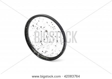 Broken Dslr Camera Lens Isolated On White
