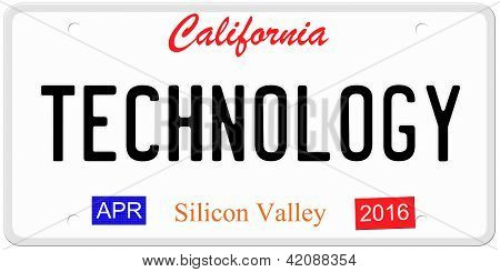 Technology License Plate
