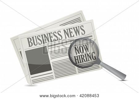 Found A Job Opportunity On A Business Newspaper