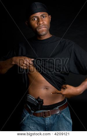 Gang Member With Weapon