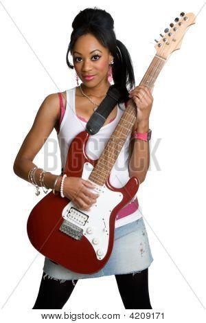Afroamerikaner Rockstar