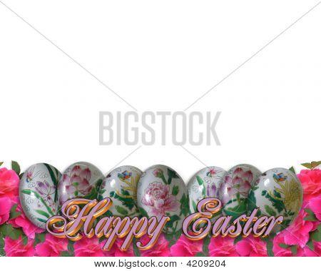 Frontera de huevos de Pascua