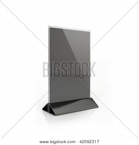 Table Tent isolated on white background