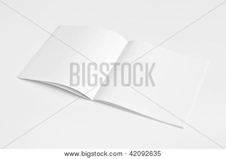 Blank opened Magazine isolated