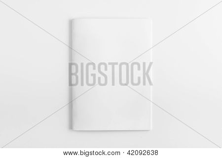 Blank Magazine isolated on White Background