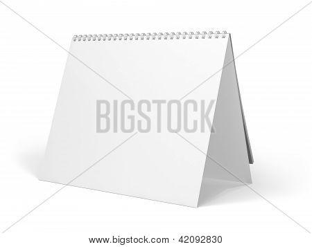 Blank Desk Calendar isolated
