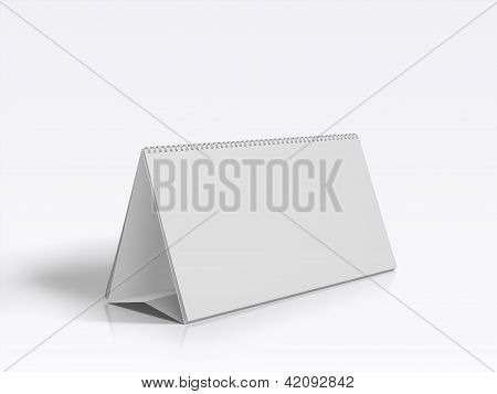 Blank Desk Calendar isolated on white background