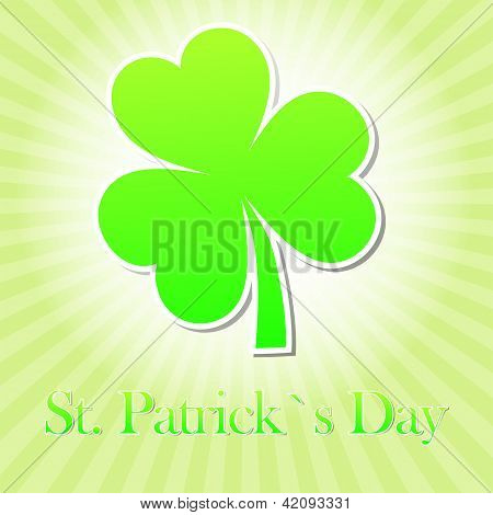 St. Patrick's Day With Green Shamrock