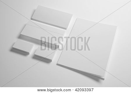 Envelopes Business card folder and envelope isolated on white