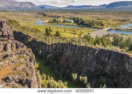 Thingvellir Valley  - Iceland.