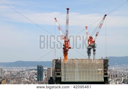 Highrise building construction site