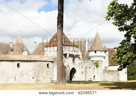 Bridoire Castle, Dordogne Department, Aquitaine, France