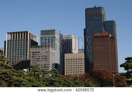 Edificio moderno de Tokio