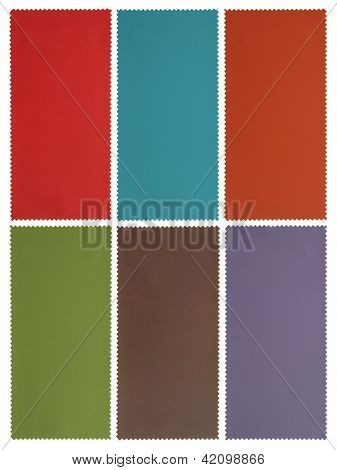 Blank paper with copy-space on fabric banners