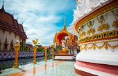 stock photo of sanctification  - View on a Buddhist place of worship in Thailand - JPG
