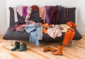 stock photo of messy  - What to wear - JPG