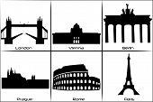 Main European Landmarks poster