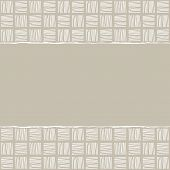 stock photo of cross-hatch  - beige brown white geometric pattern with white cross hatch in winter colors with torn paper on scrapbook horizontal background - JPG