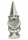 picture of gnome  - Vector illustration of proud gnome with long beard - JPG