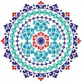 image of ottoman  - Oriental pattern and ottoman style ornaments  - JPG
