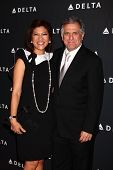 LOS ANGELES - FEB 7:  Julie Chen, Les Moonves arrives at the Celebration of LA's Music Industry rece
