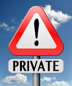 private information no access privacy notice confidential information protection personal info