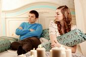 image of love hurts  - Quarrel and hurt two loving home - JPG