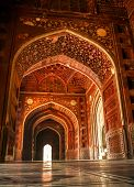 pic of mausoleum  - Mosque at the Taj Mahal - JPG