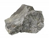 stock photo of slag  - a grey slag stone in white back - JPG