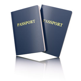 image of passport template  - Blank passport on white isolated background - JPG
