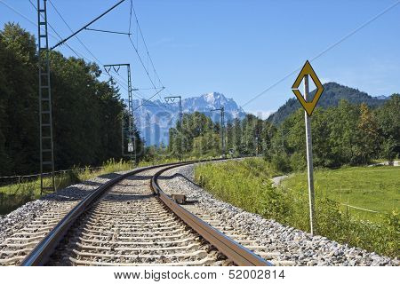 Railway Bavarian Alps