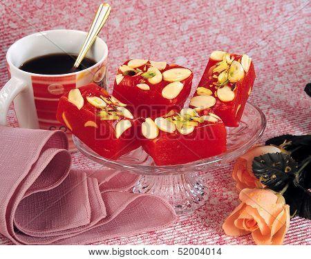 Turkish Halwa with Tea
