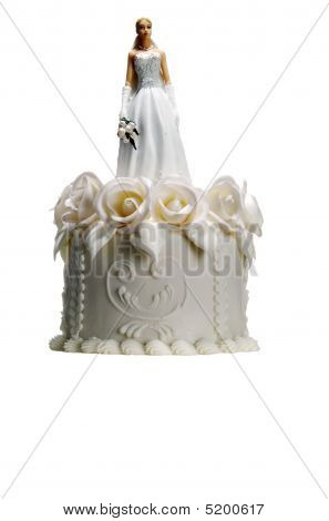 Wedding Cake With Bride On Top