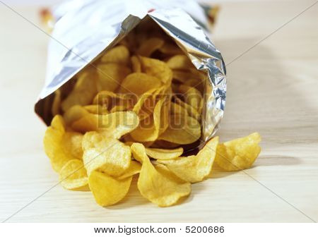Bag Of Potato Crisps, Food, Snacks, Potato Chips, Junk Food