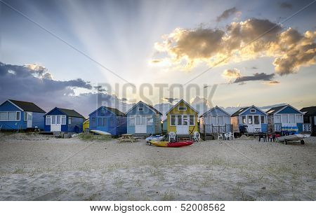 Beach Huts At Hengistbury Head