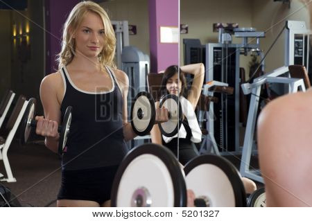 The Dumbbell And Mirror