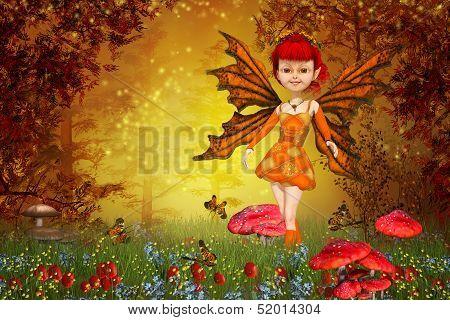 Fairy Tale Lawn And Little Fairy