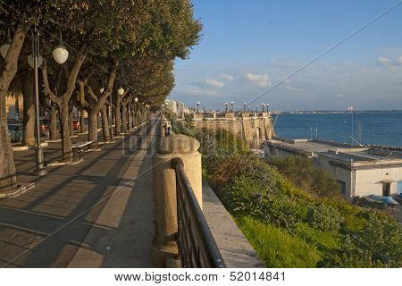 Coast of Ionian sea in Taranto