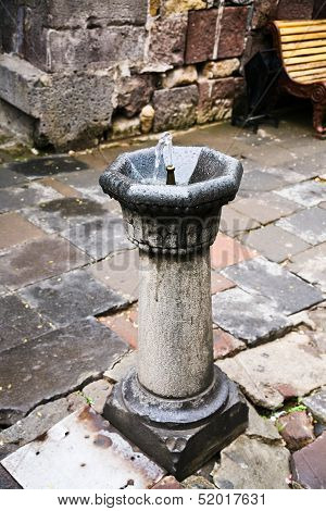 Drinking Fountain In Medieval Monastery In Armenia