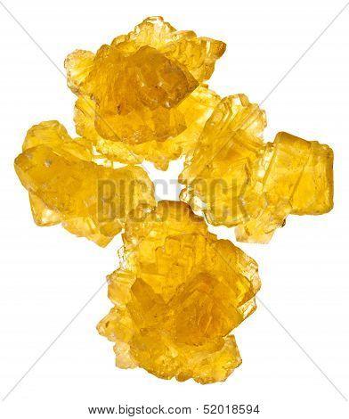 Pieces Of Yellow Crystalline Sugar