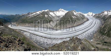 Unique Aletsch Glacier