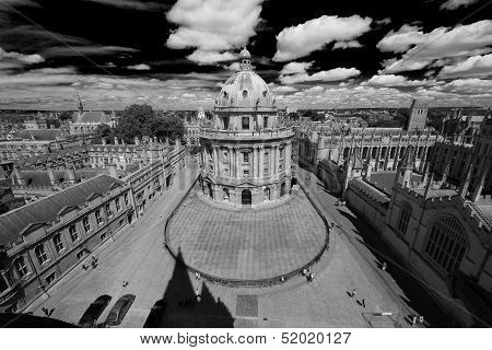Birdview Of Oxford University And Radcliffe Camera