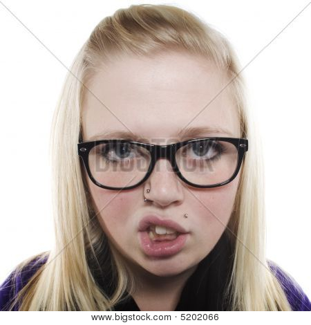 Young Girl With Glasses