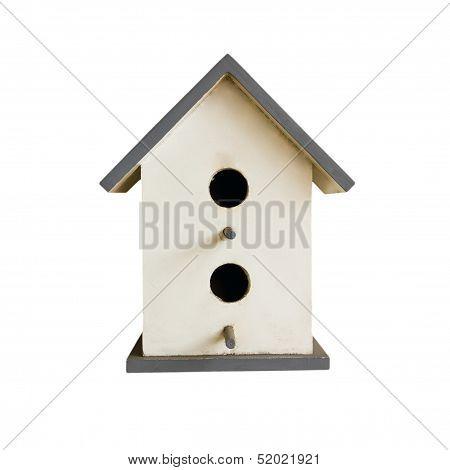 Nestling Box Isolated On White
