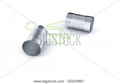 An image of a nice can phone isolated on white