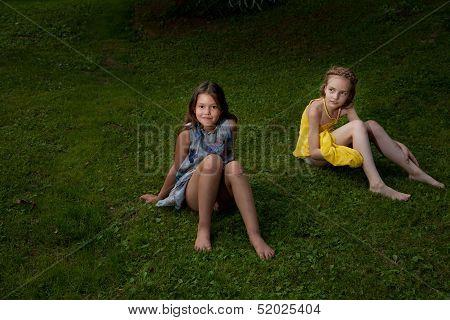 girls on the ground