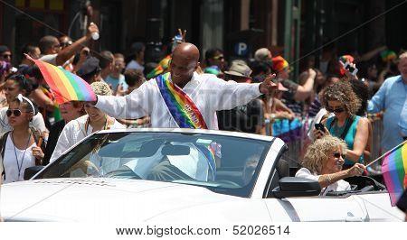 Harry Belafonte as Parade Grand Marshall