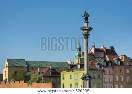 View Of Sigmund's Column On The Castle Square, Warsaw